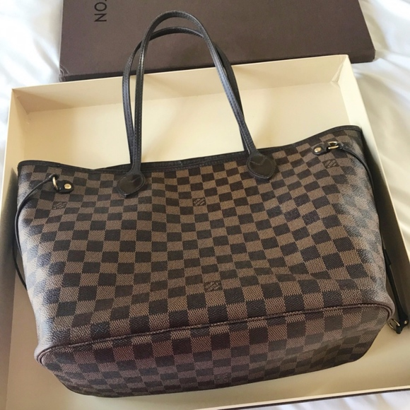 04dda385481 Louis Vuitton Bags   Neverfull Mm Damier Ebene Canvas Bag   Poshmark